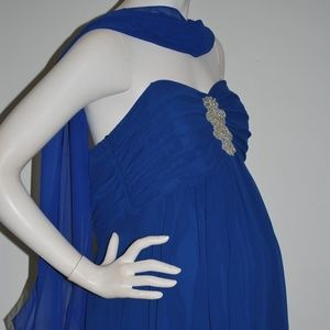 Unbranded Dresses - La Femme Maternity Dress Royal Strapless